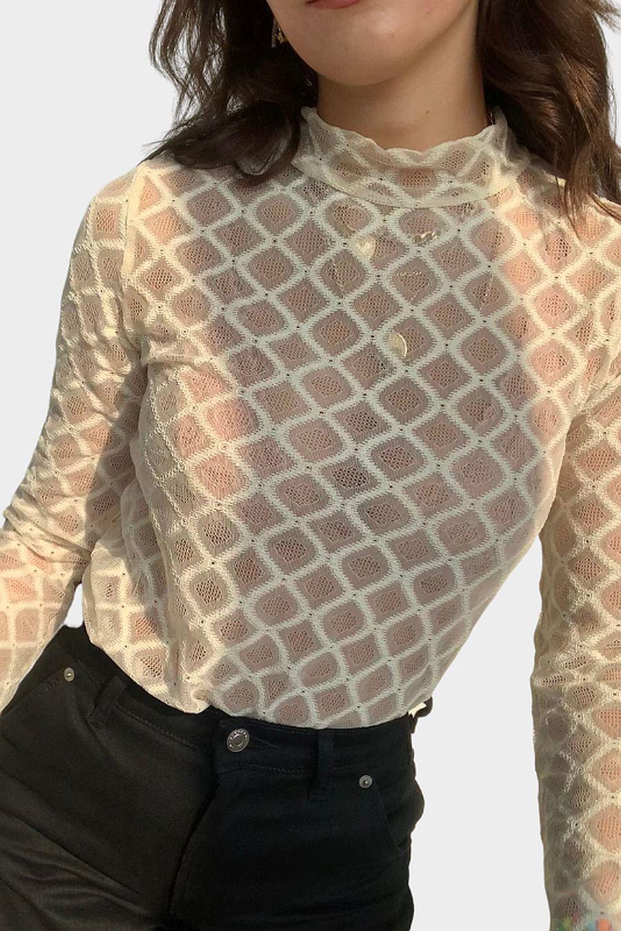 Simonett Grid Top - White