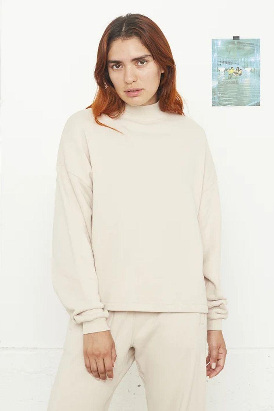 Entireworld Mock Neck Sweatshirt - Cream