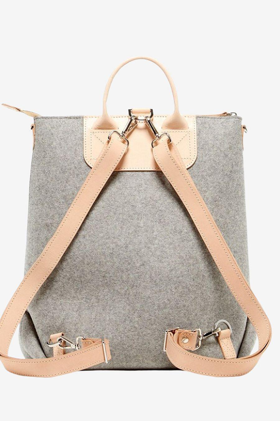 Graf Lantz Bedford Backpack - Granite / Natural Leather