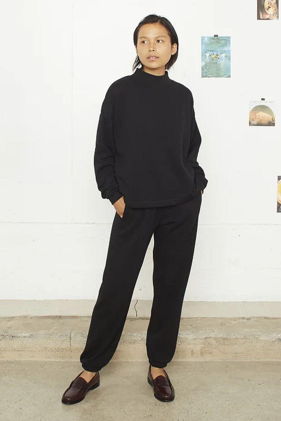 Entireworld Mock Neck Sweatshirt - Black