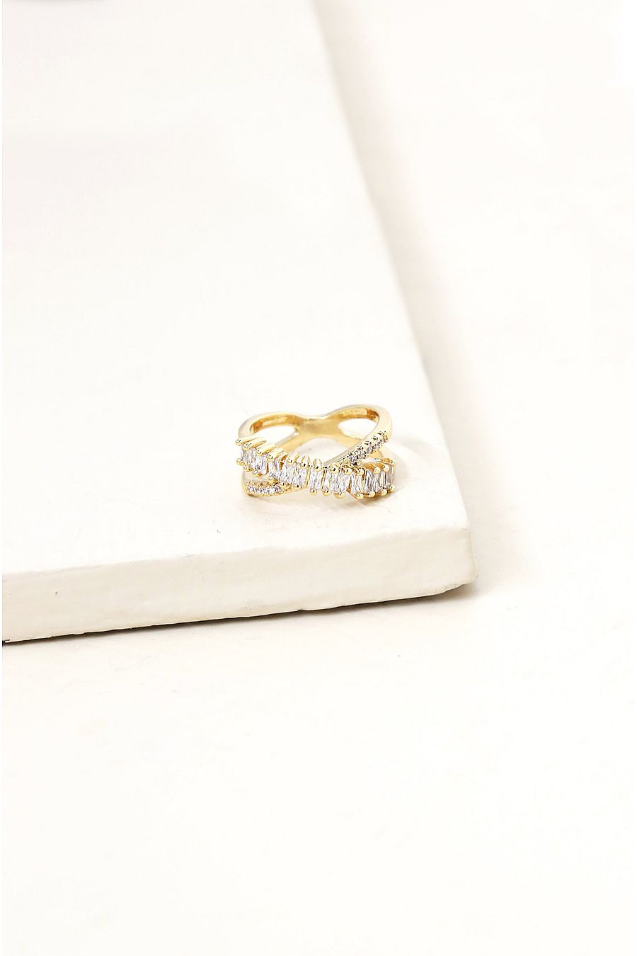 Ettika Crystal Baguette Eternity Ring