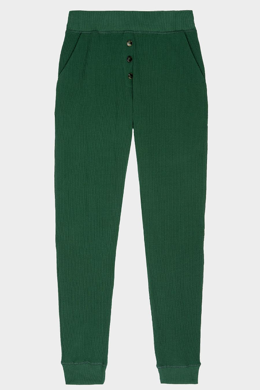 DONNI. Thermal Henley Sweatpant - Hunter
