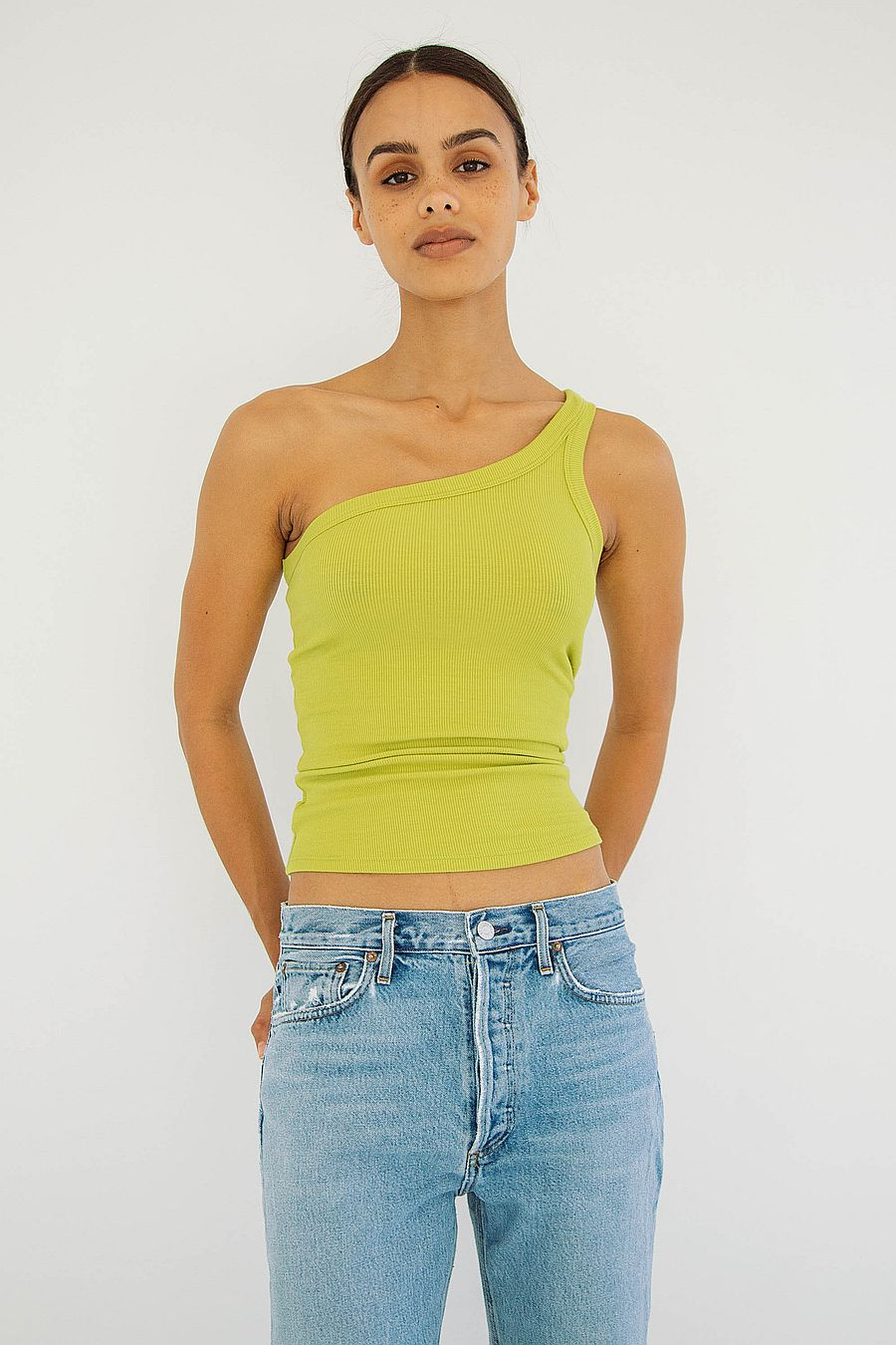The Line by K Driss Tank - Chartreuse