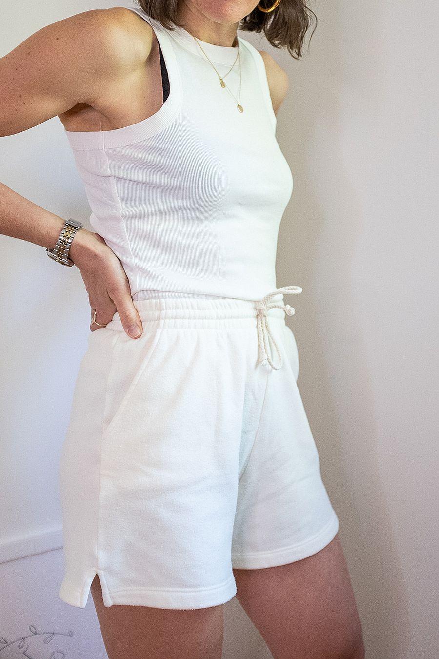 DONNI. Vintage Fleece Shorts - Creme