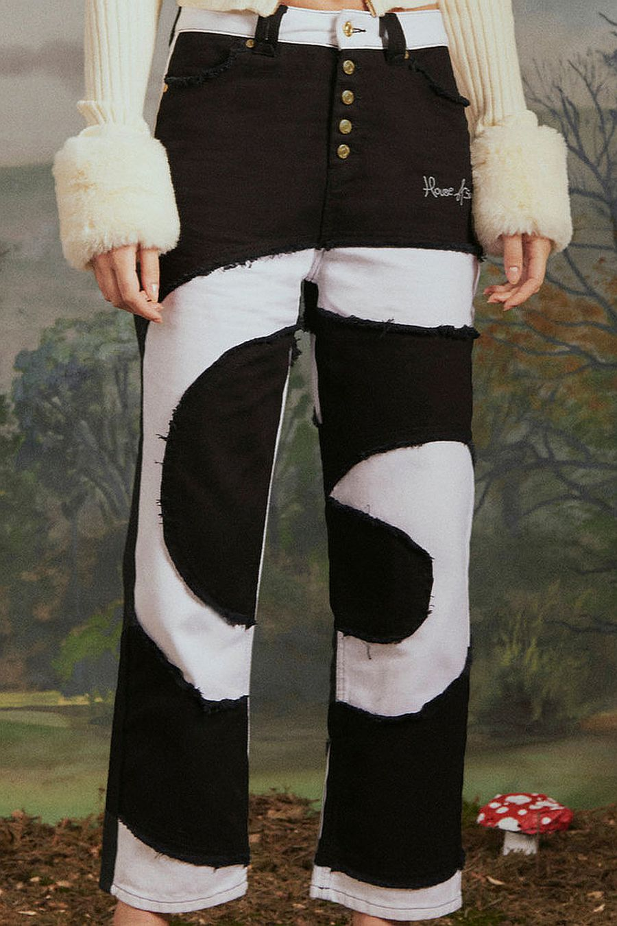 House Of Sunny Across the Universe Patchwork Pants
