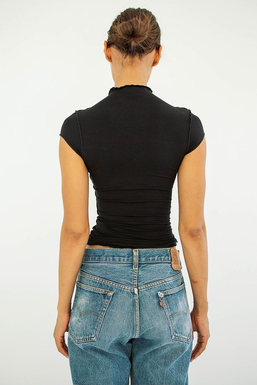 The Line by K Reese Mock Neck Top - Black