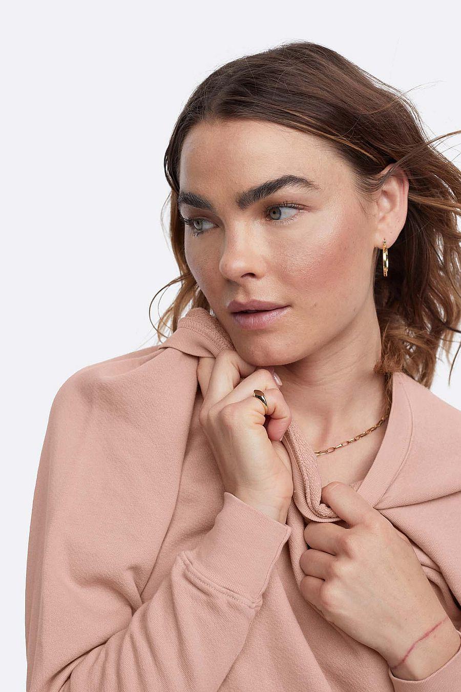 MATE The Label Organic Terry Raglan Sweatshirt - ROSE