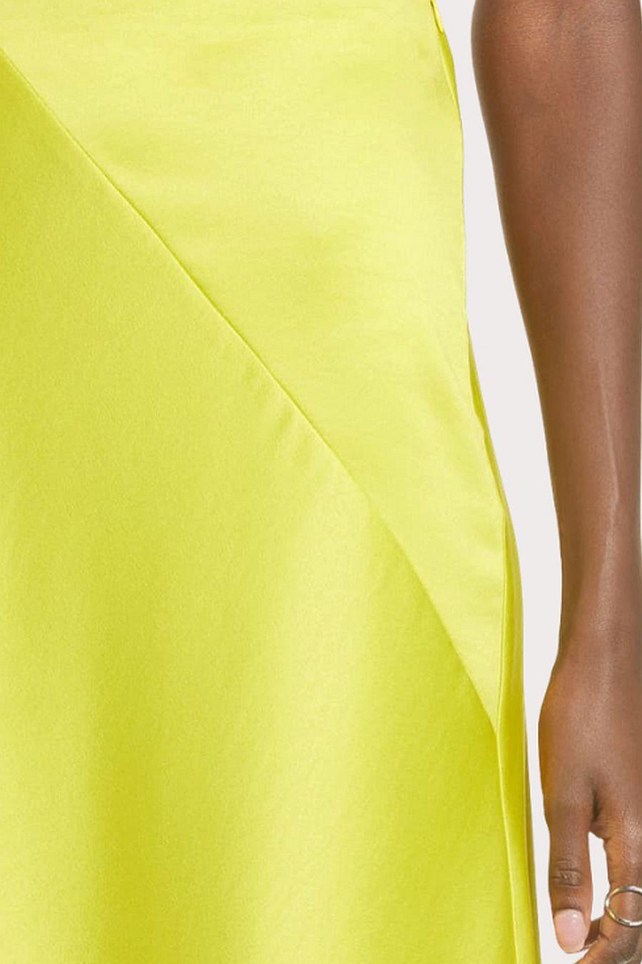 J.O.A.  Satin Bias Cut Midi Skirt
