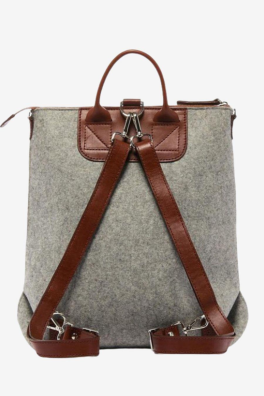 Graf Lantz Bedford Backpack Felt - Granite/Sienna