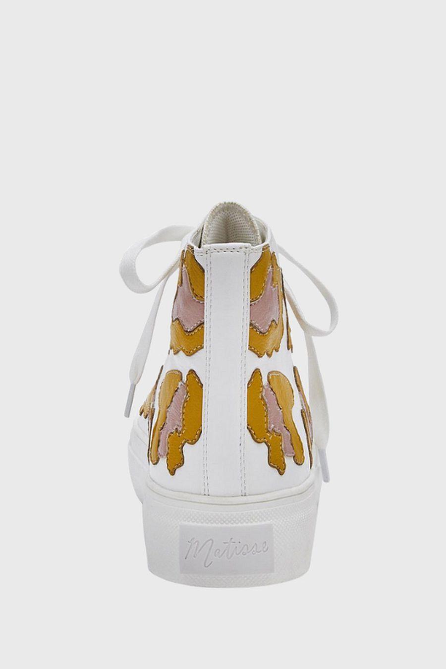 Matisse Footwear Eve High-Top Sneaker - yellow multi