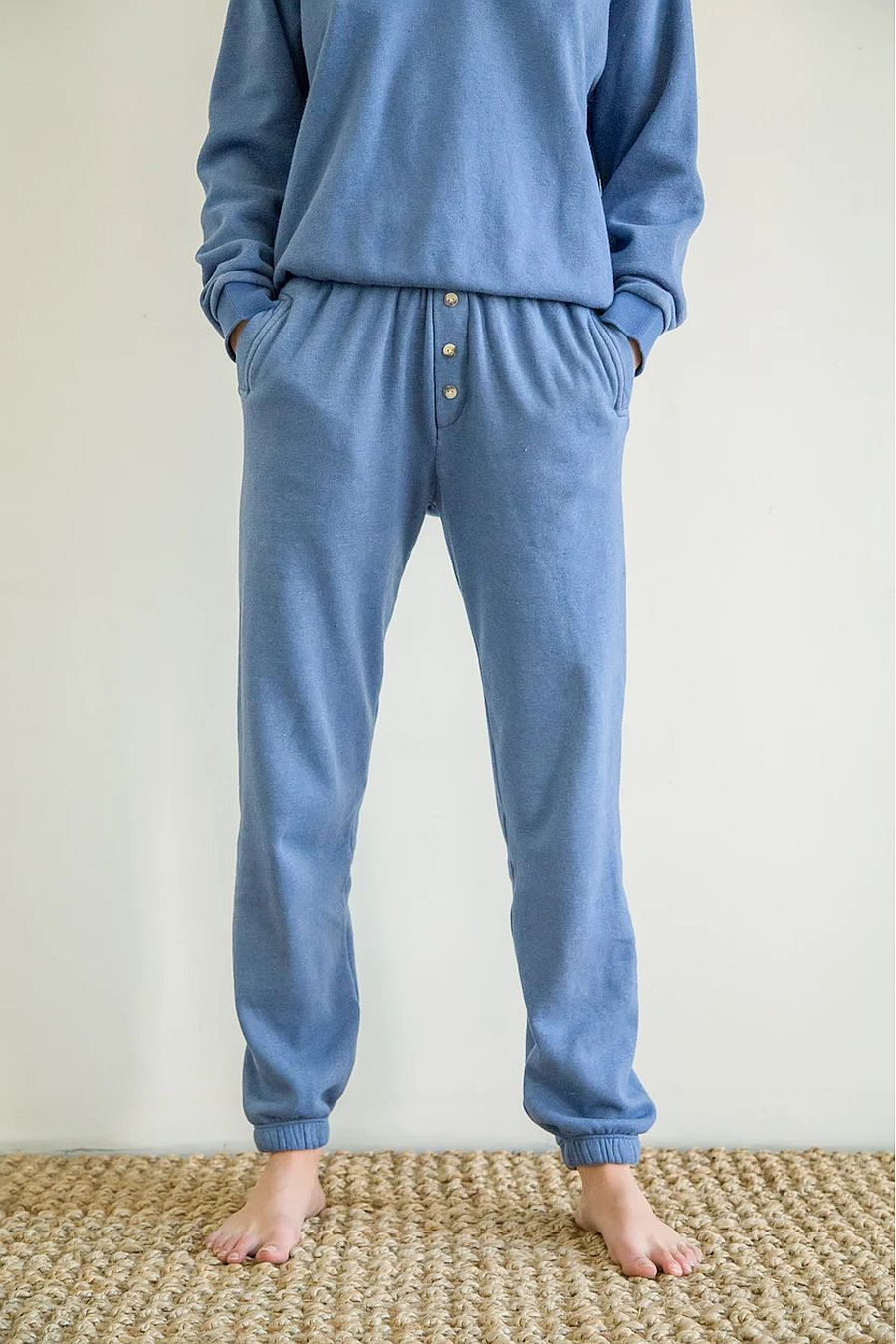 DONNI. Vintage Fleece Joggers - Indigo