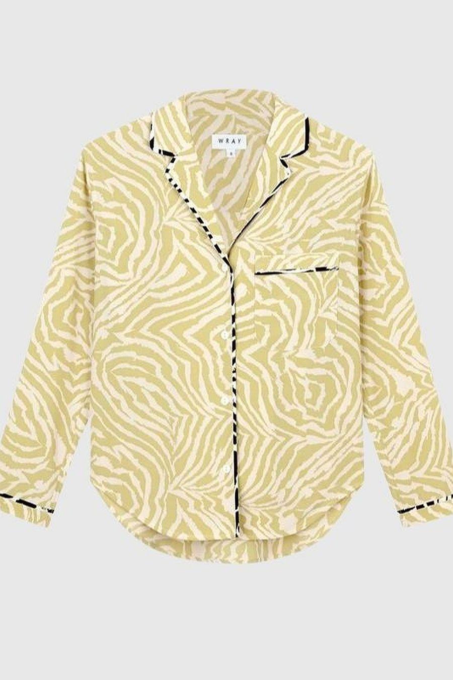 Wray NYC Lena Top - Pistachio Swirl Zebra