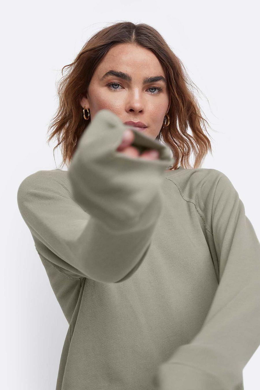 MATE The Label Organic Terry Raglan Sweatshirt - SAGE