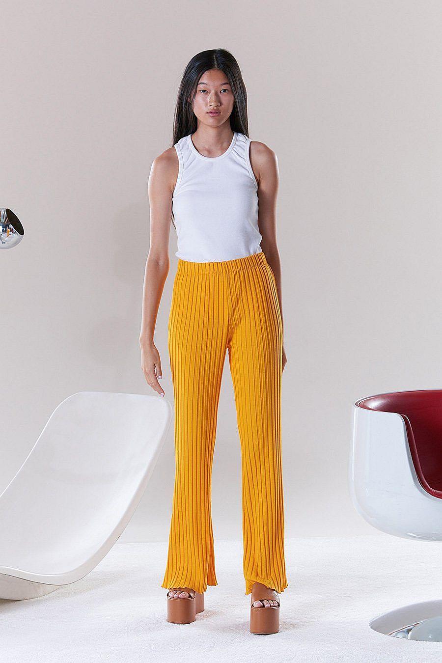 Simon Miller RIB Cyrene Pants - Sunset Orange
