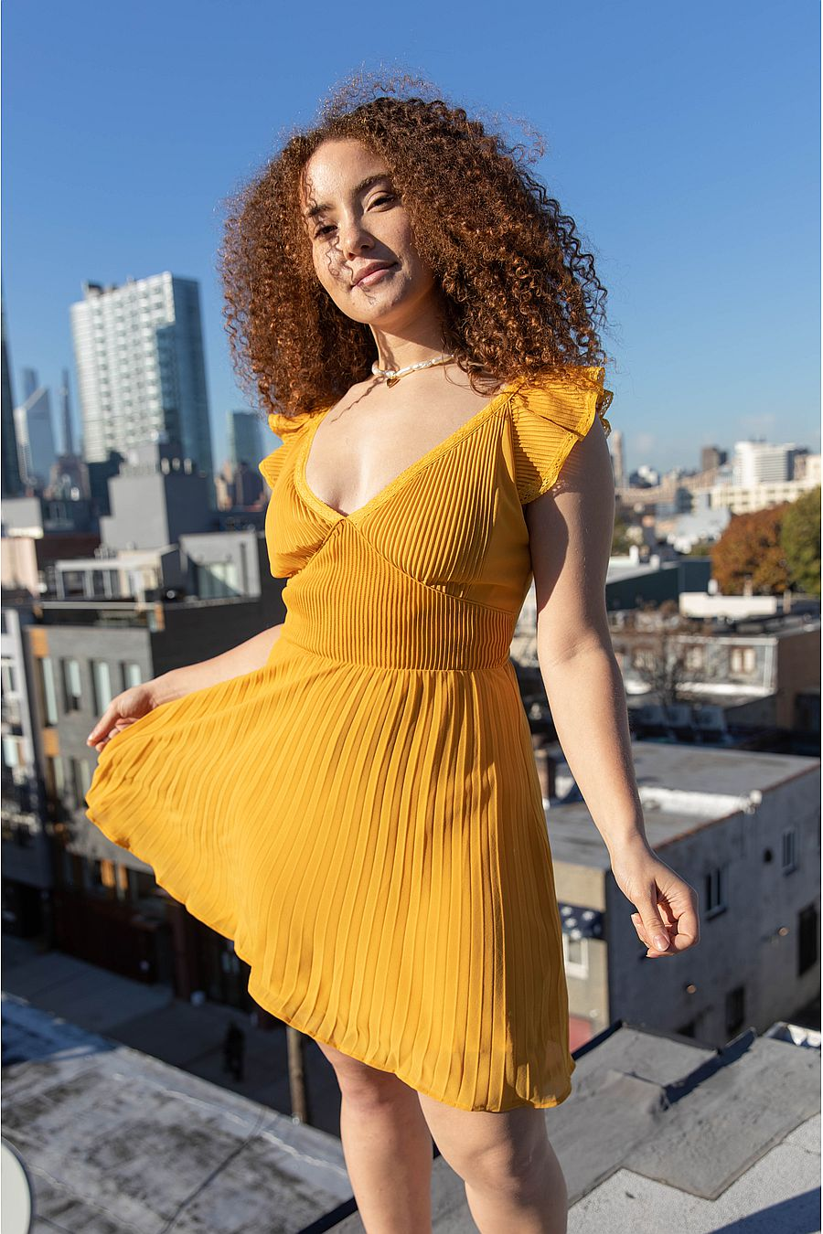 Find Me Now Anoki Mini Dress - Saffron
