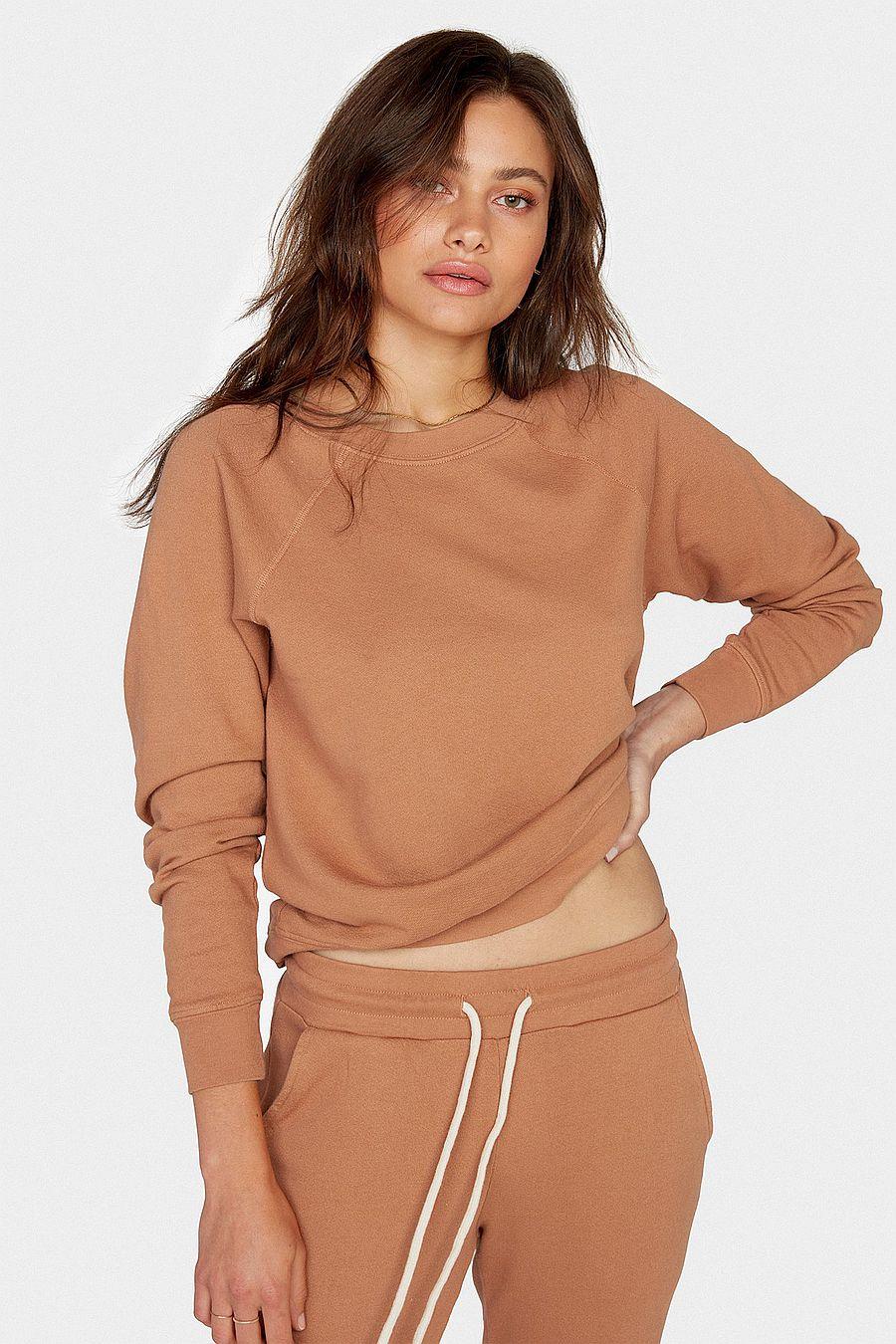 MATE The Label Organic Terry Raglan Sweatshirt - SEDONA