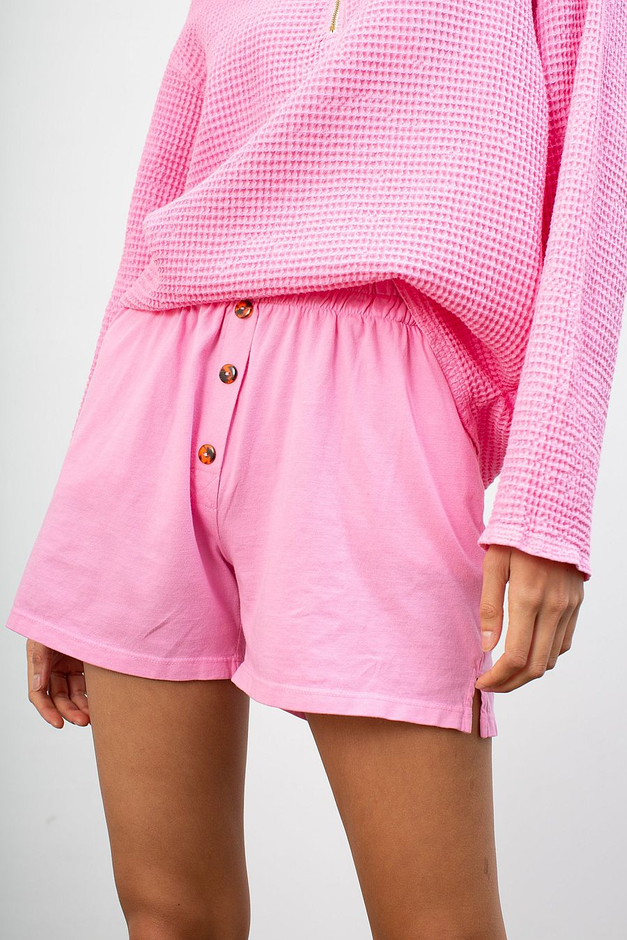 DONNI. Henley Short - Flamingo