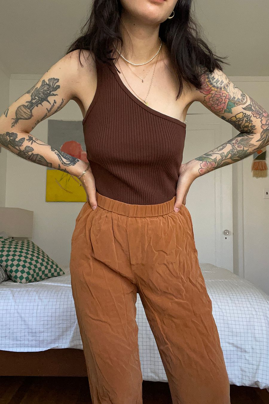 LACAUSA Clothing Lia Tank - Chocolate