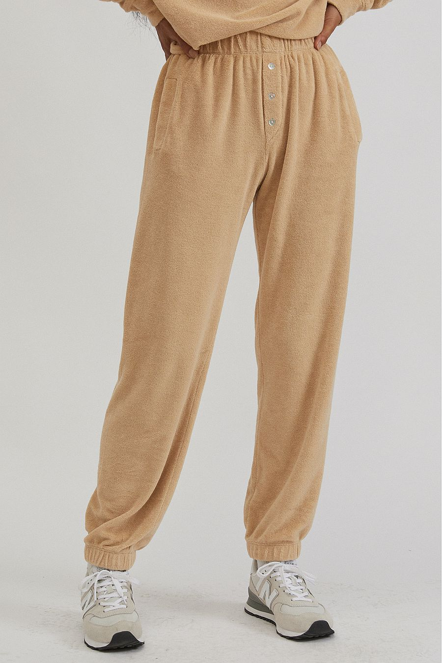 DONNI. Terry Henley Sweatpant - Latte