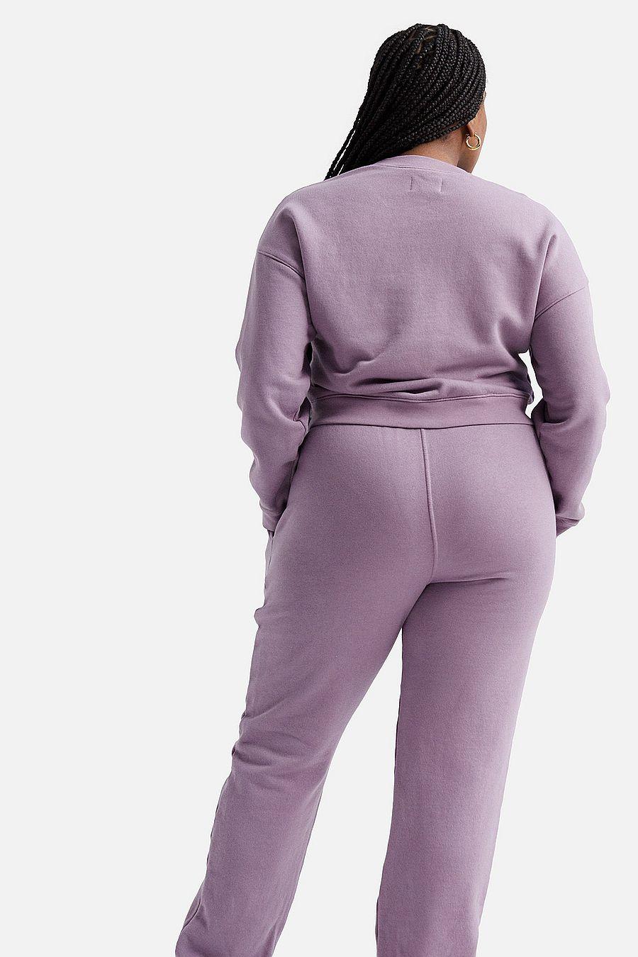 MATE The Label Fleece Crop Sweatshirt - LAVENDER