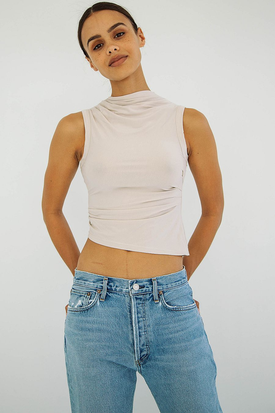 The Line by K Selma Tank Top - Clay