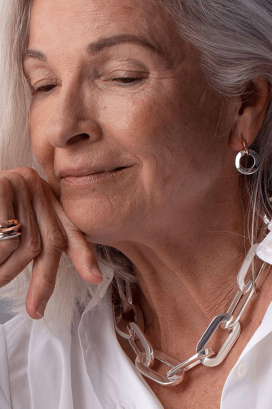 Jenny Bird Mega Link Necklace - Silver
