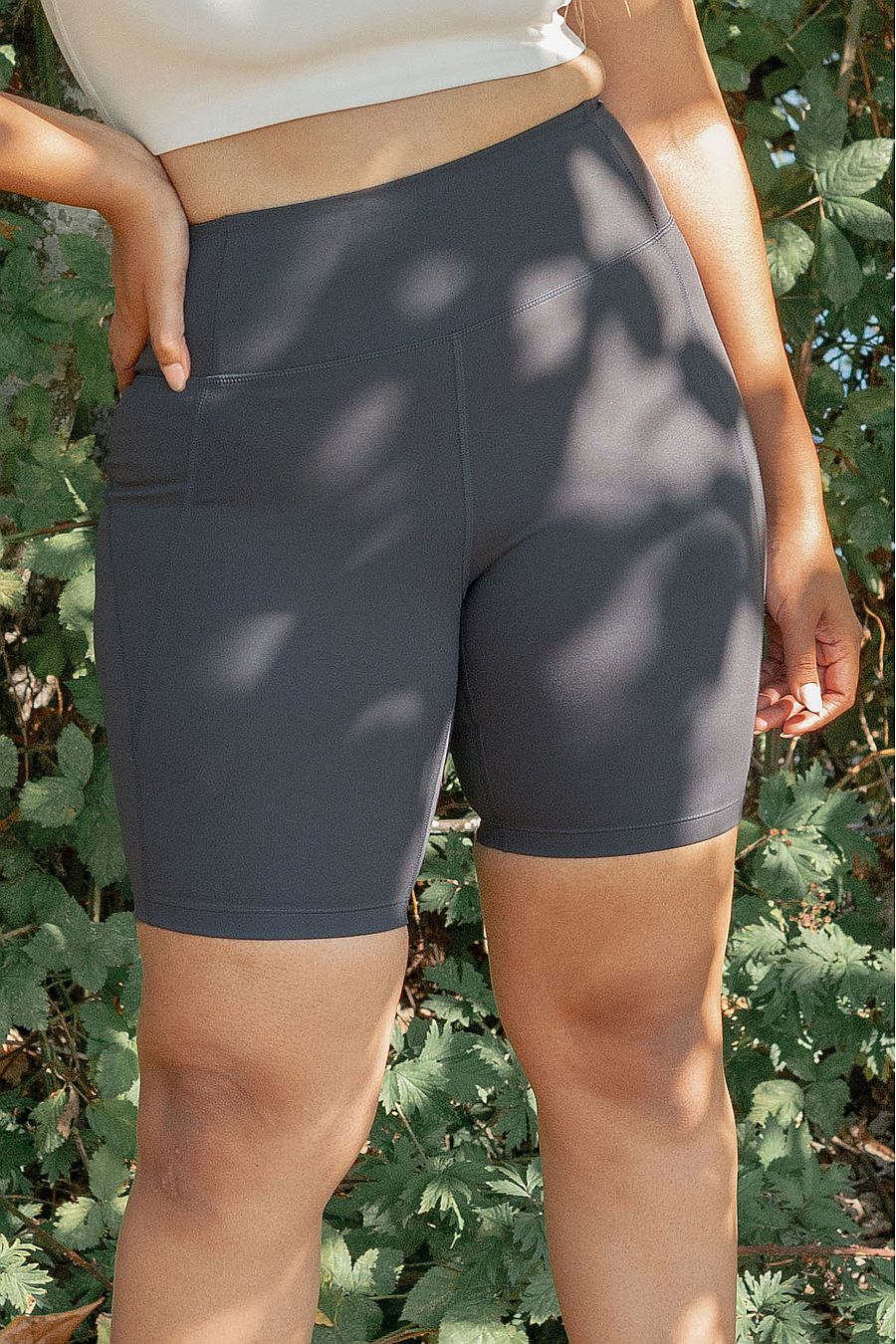 Girlfriend Collective Moon High Rise Bike Short