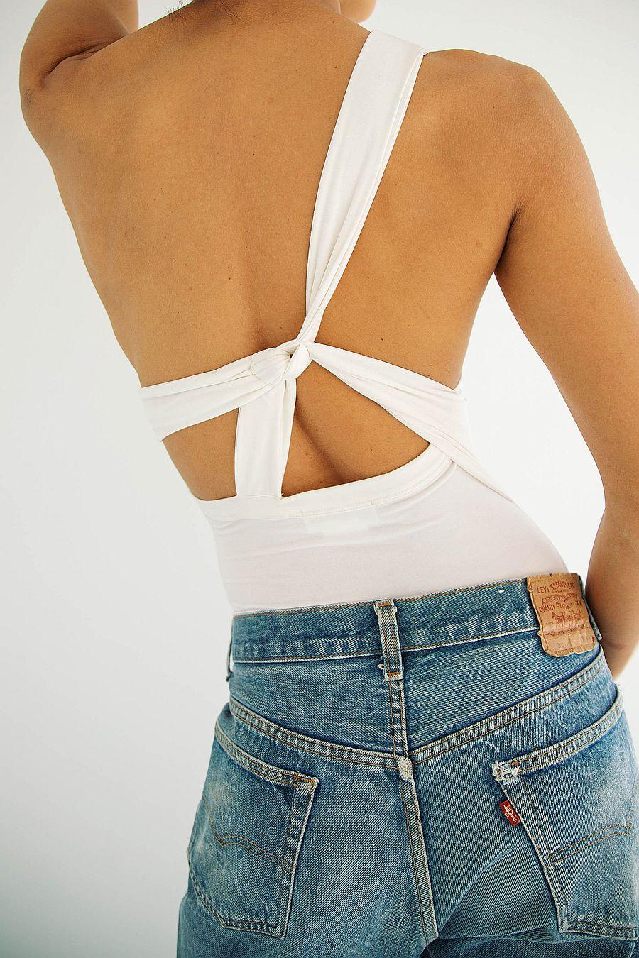 The Line by K Aisling Bodysuit - Vanilla