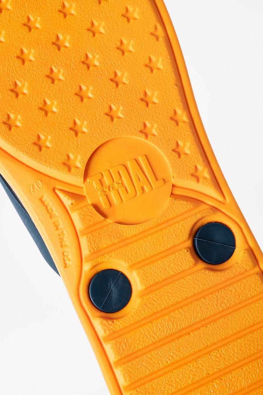 Tidal BUNGALOW Flip Flops - Tangerine/Washed Blue