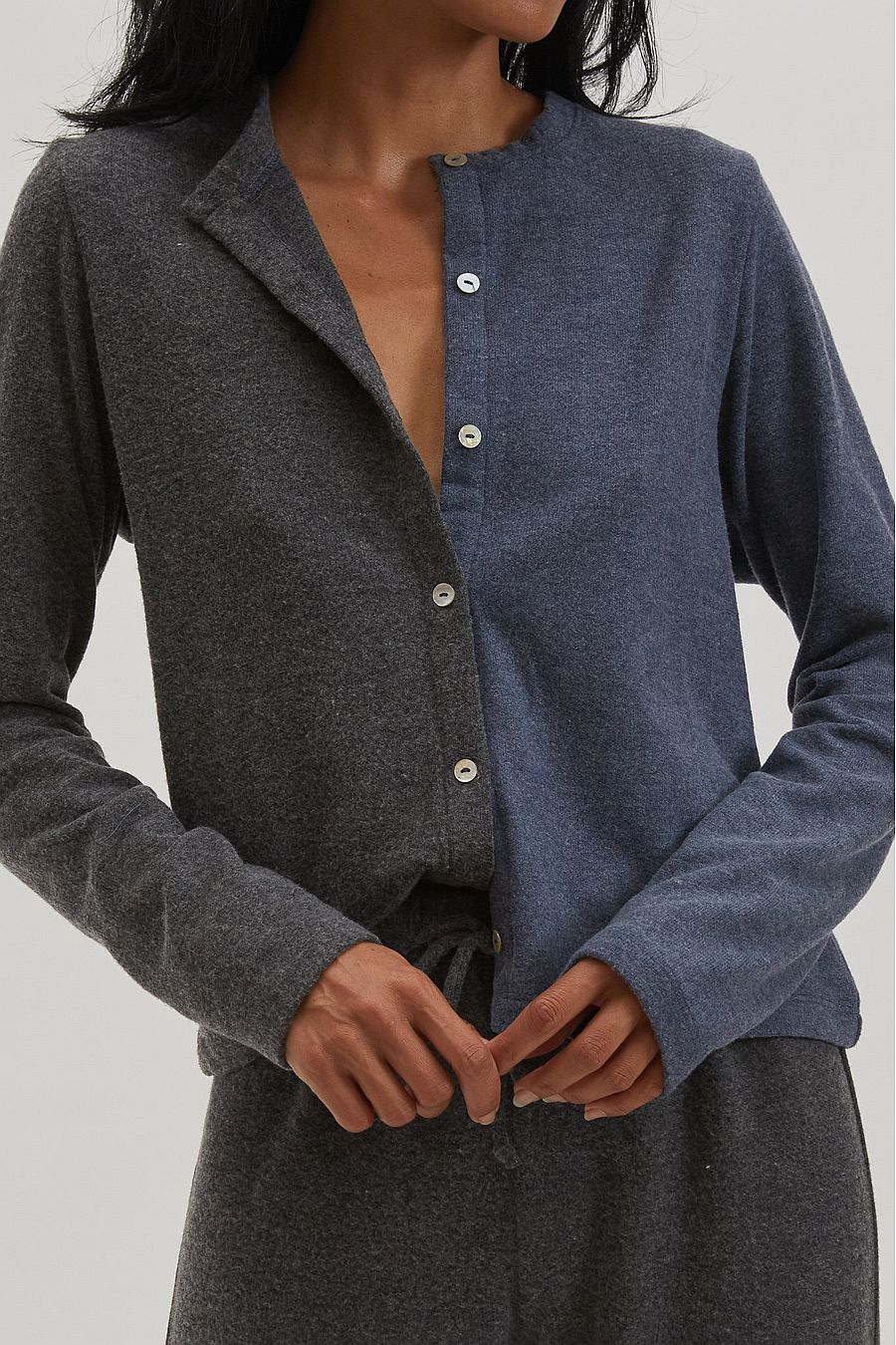 DONNI. Duo Sweater Cardi - Navy/Jet