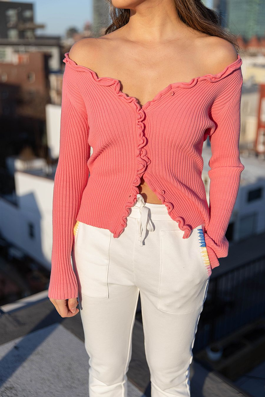 Find Me Now Charlie Ruffled Knit Top - Pink