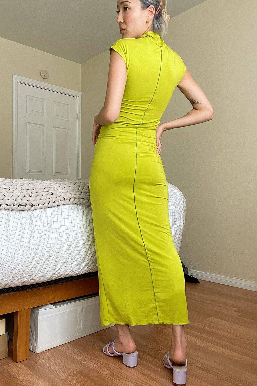 The Line by K Sinea Dress - Chartreuse