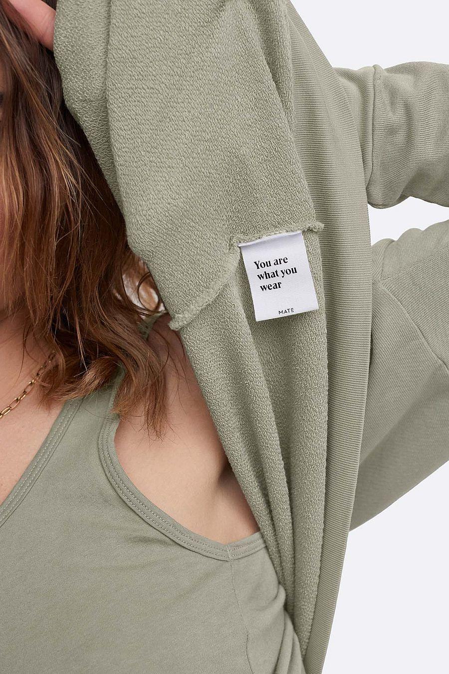 MATE The Label Organic Terry Zip Hoodie - SAGE