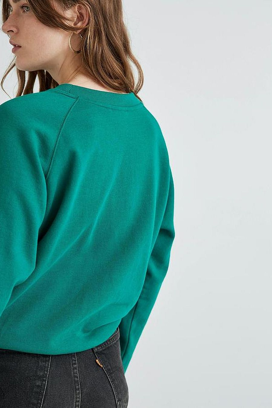 Richer Poorer Fleece Sweatshirt - Evergreen