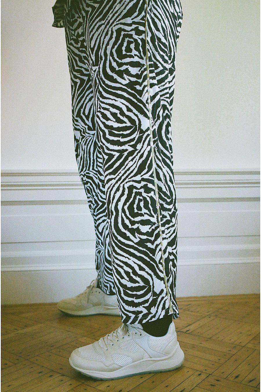 Wray NYC Luna Pant - Chocolate Zebra Swirl