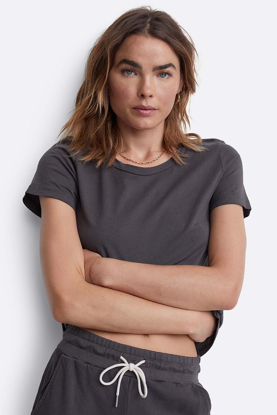 MATE The Label Organic Cotton Classic Tee - CHARCOAL