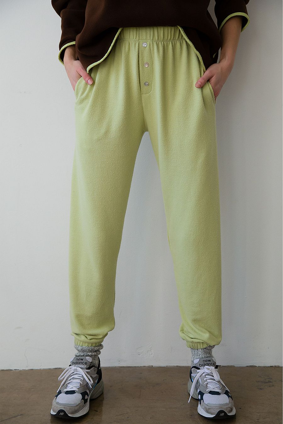DONNI. Sweater Henley Sweatpant - Lime