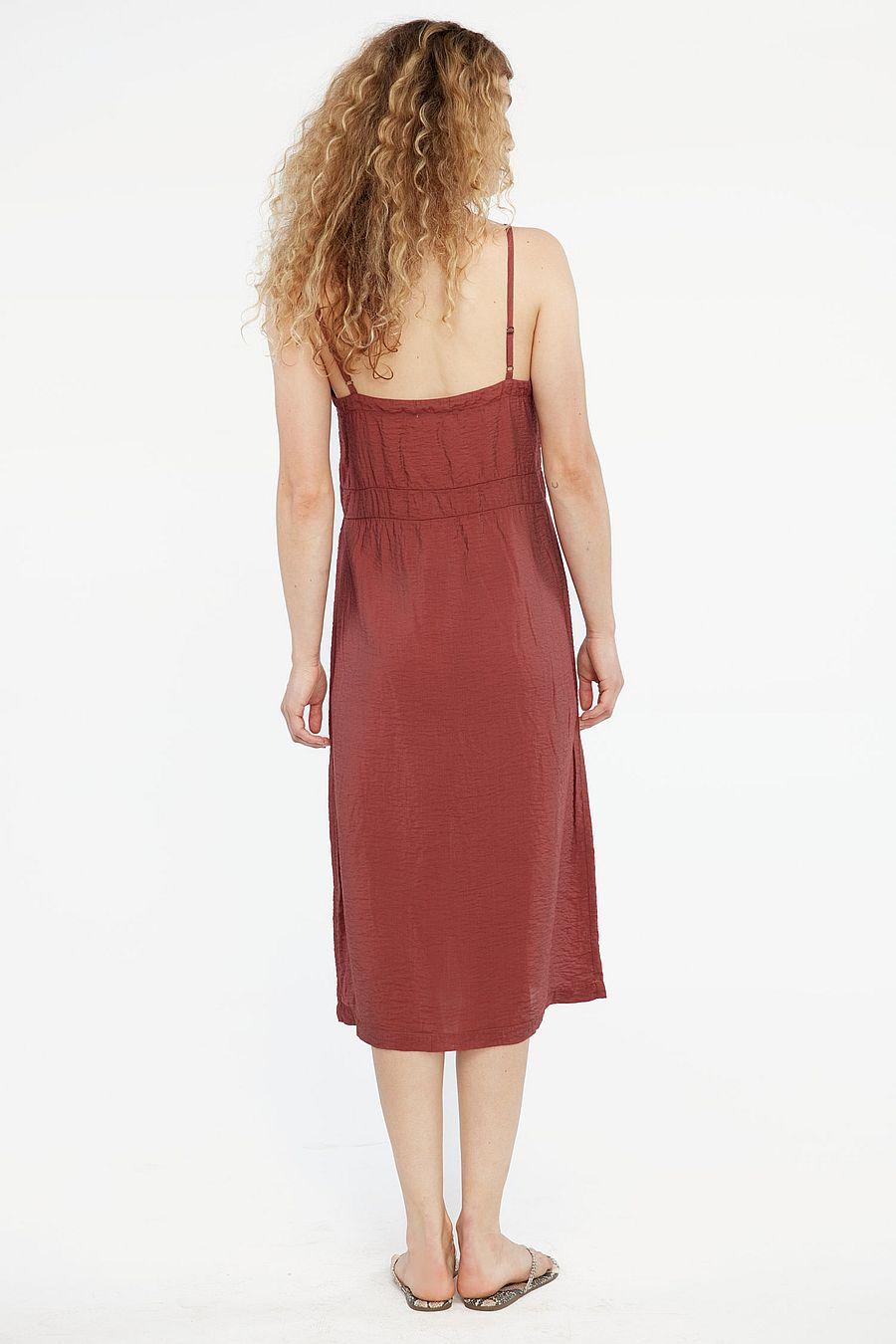 LACAUSA Clothing Alma Slip Dress - Cocoa