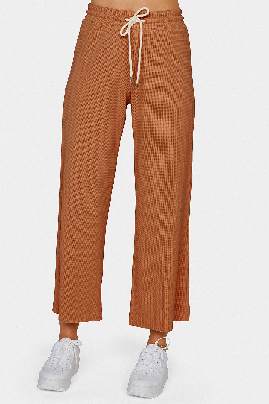 MATE The Label Organic Thermal Wide Leg Pant - SEDONA