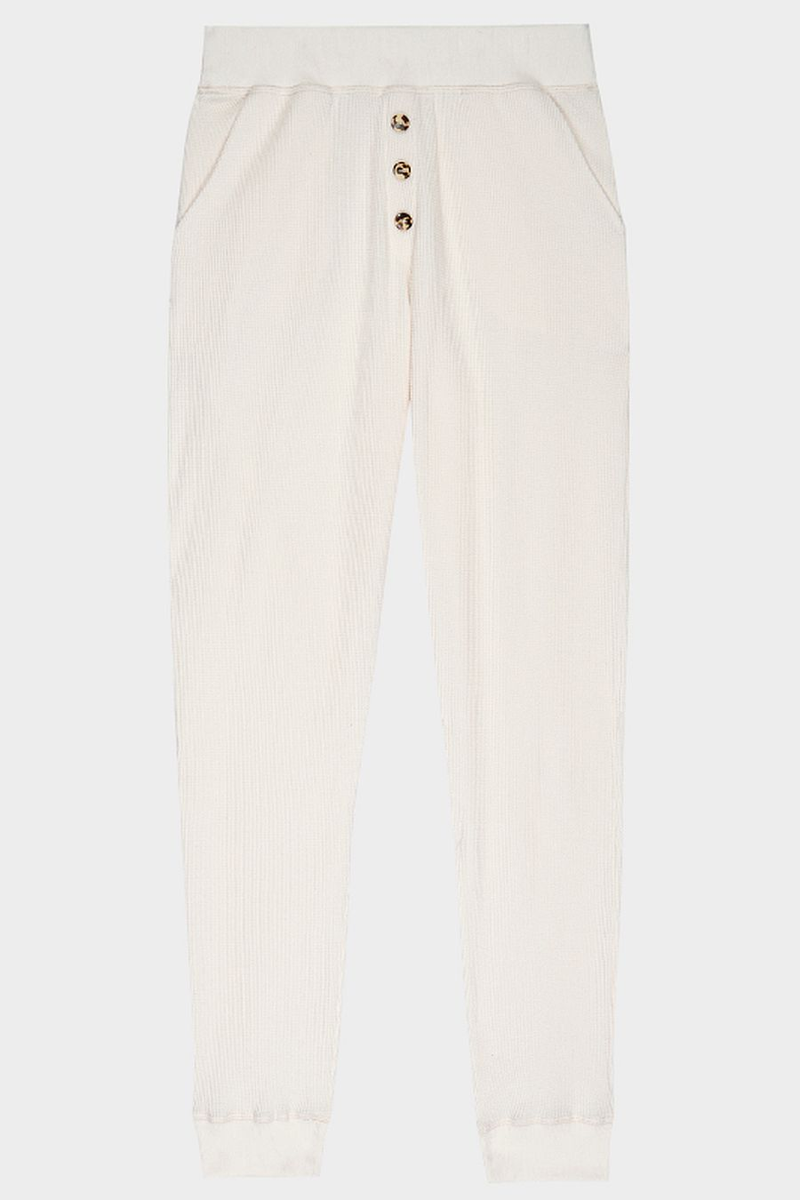 DONNI. Thermal Henley Sweatpant - Creme