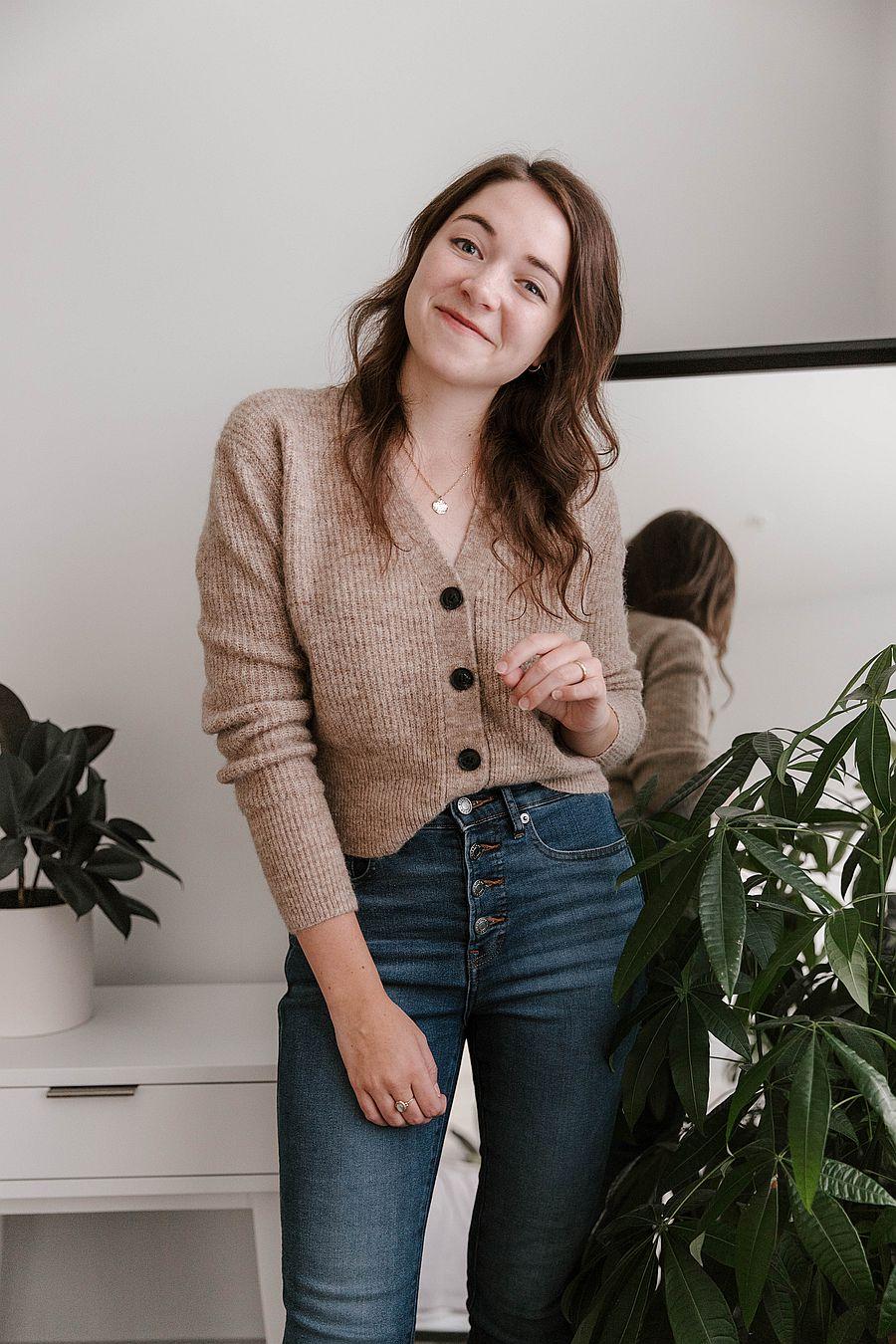 Just Female Rebelo Knit Cardigan - Oatmeal