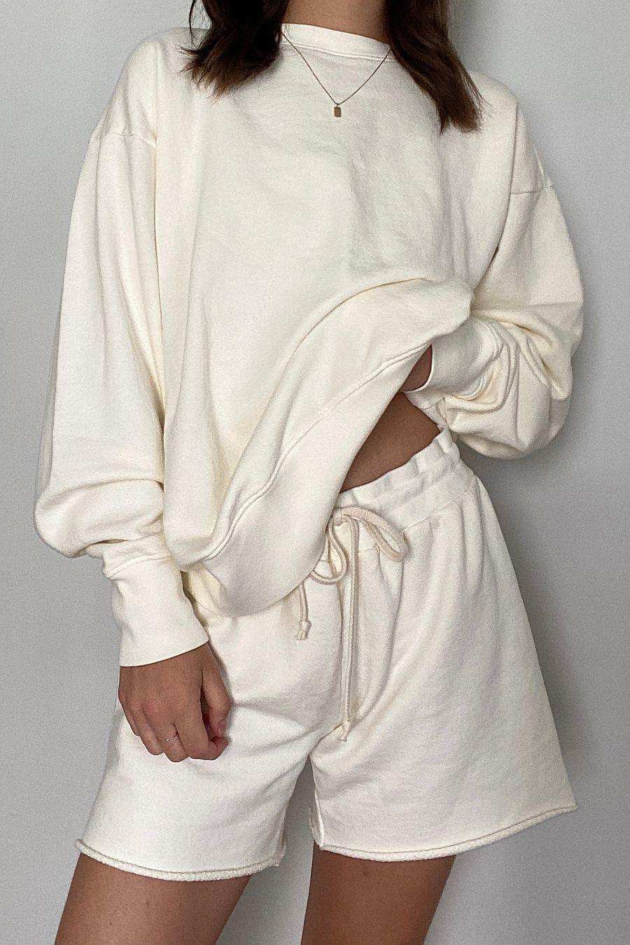 LACAUSA Clothing Slater Sweatshorts - Oatmilk