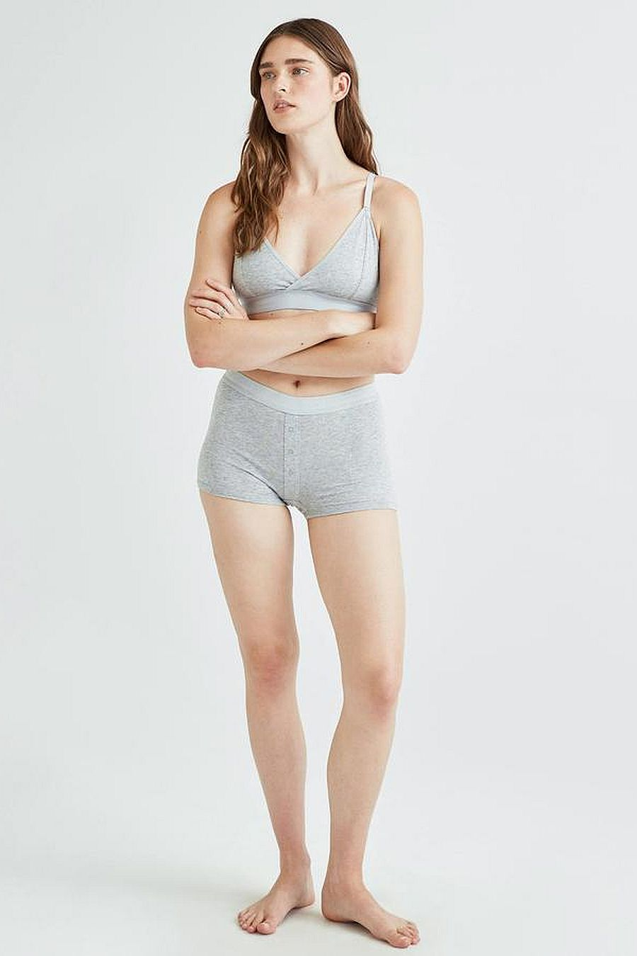 Richer Poorer Femme Boxer - Heather Grey