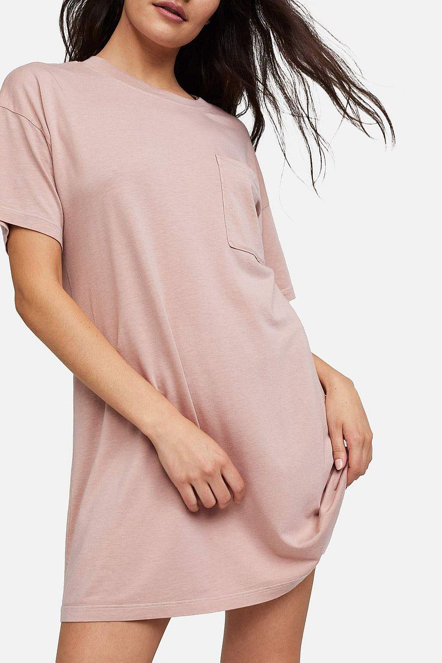 MATE The Label Tencel Sleep Tee Dress - ROSE