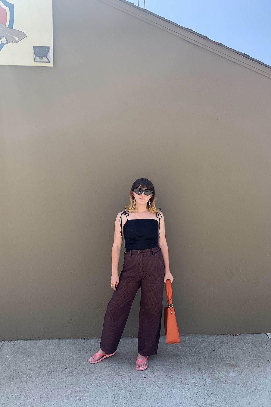 LACAUSA Clothing Austin Trouser - Sienna