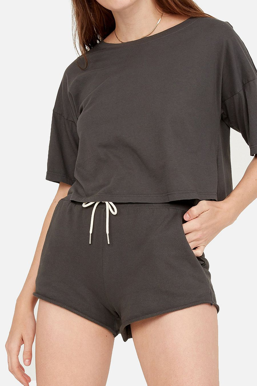 MATE The Label Organic Terry Lounge Short - CHARCOAL