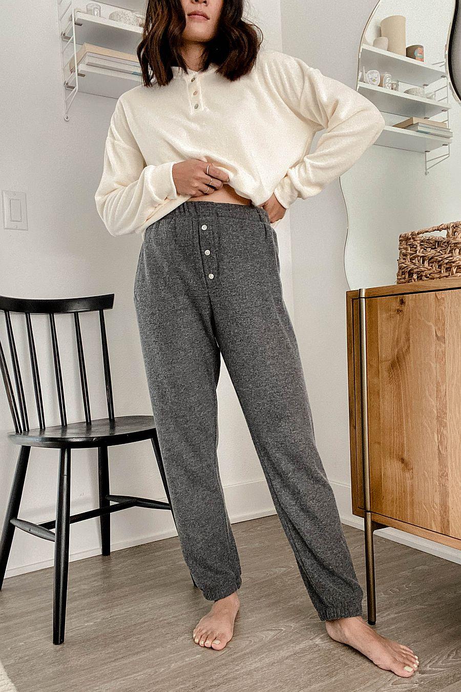 DONNI. Sweater Henley Sweatpant - Jet