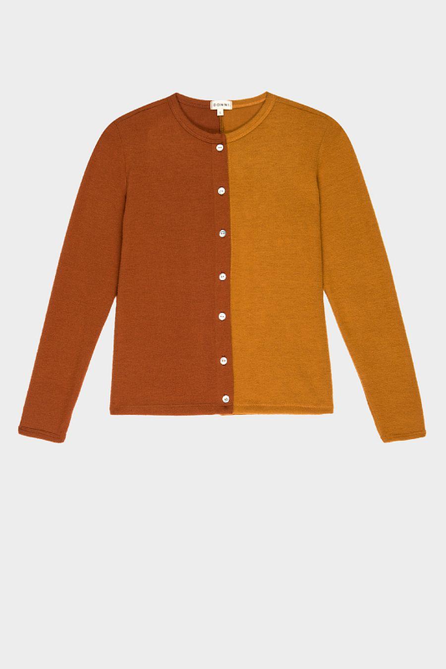 DONNI. Duo Sweater Cardi - Copper/Dijon