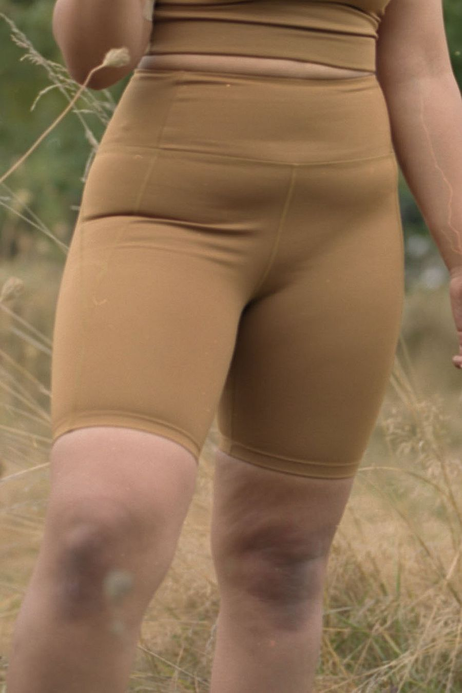 Girlfriend Collective Saddle High rise bike shorts