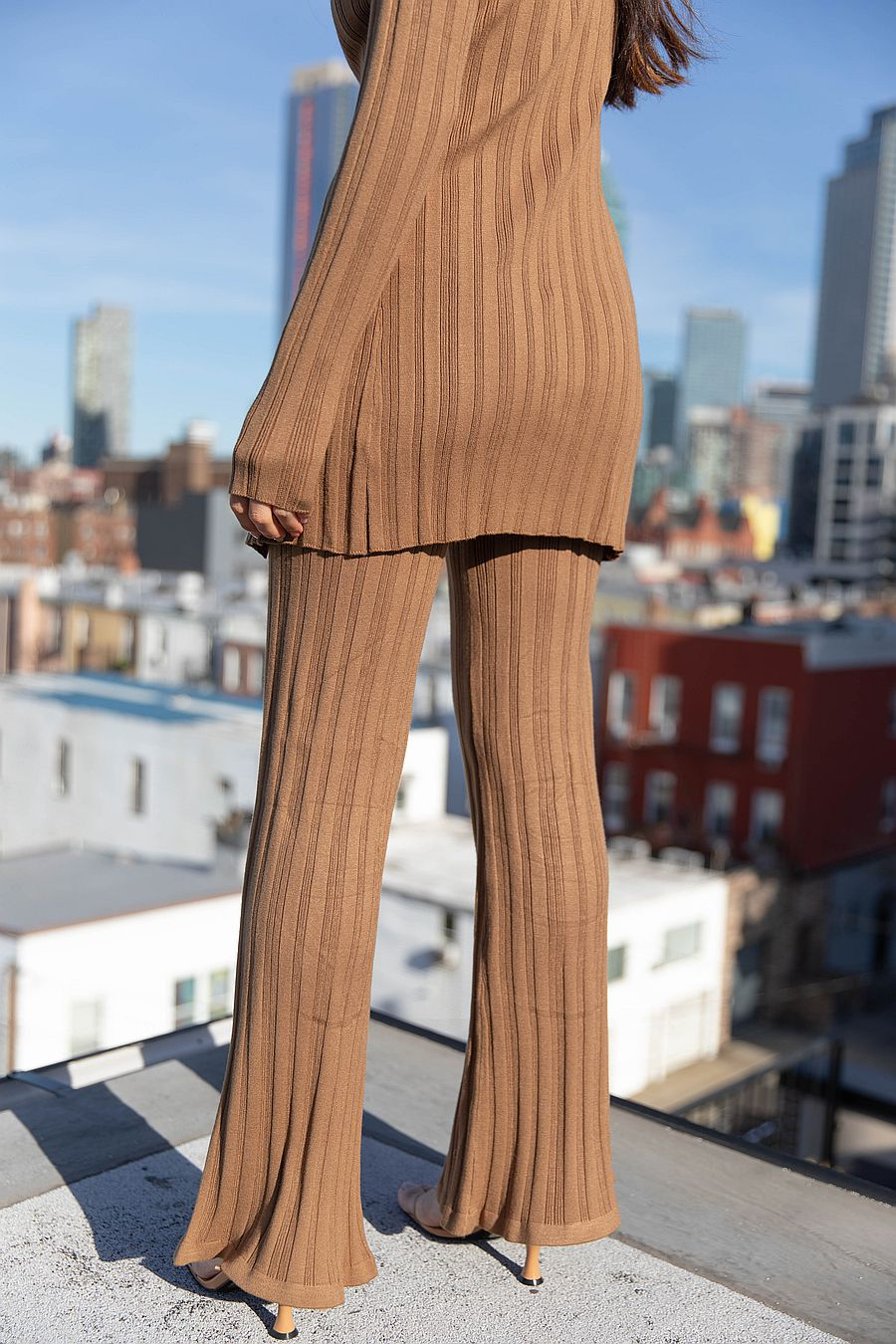 Find Me Now Blakely Knit Pants - Umber